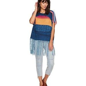Free People Sunset Fringe Top Size Medium/Large